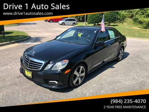 2011 Mercedes-Benz E-Class for sale at Drive 1 Auto Sales in Wake Forest NC