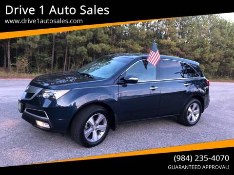 2013 Acura MDX for sale at Drive 1 Auto Sales in Wake Forest NC