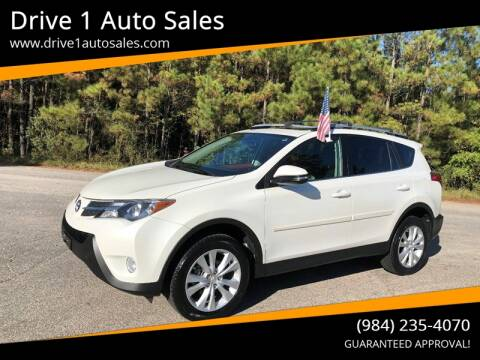 2013 Toyota RAV4 for sale at Drive 1 Auto Sales in Wake Forest NC