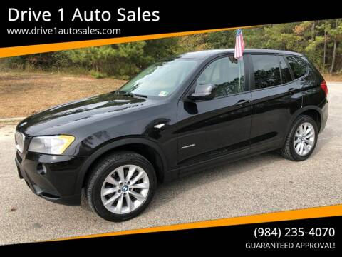 2014 BMW X3 for sale at Drive 1 Auto Sales in Wake Forest NC