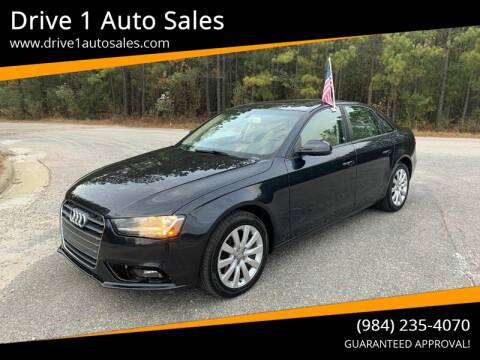 2014 Audi A4 for sale at Drive 1 Auto Sales in Wake Forest NC