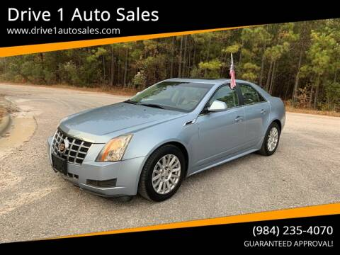 2013 Cadillac CTS for sale at Drive 1 Auto Sales in Wake Forest NC