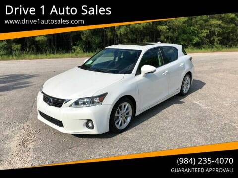 2013 Lexus CT 200h for sale at Drive 1 Auto Sales in Wake Forest NC
