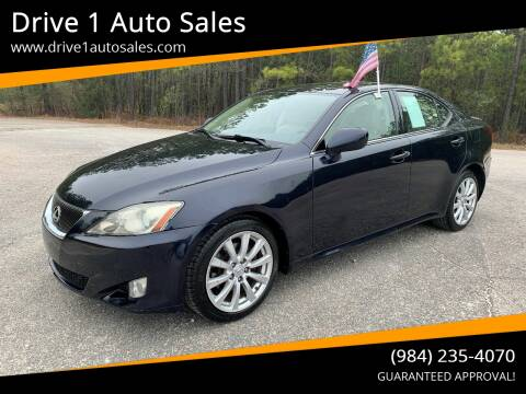 2007 Lexus IS 250 for sale at Drive 1 Auto Sales in Wake Forest NC