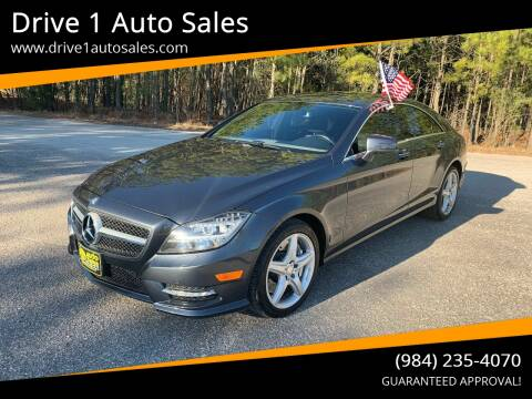 2013 Mercedes-Benz CLS for sale at Drive 1 Auto Sales in Wake Forest NC