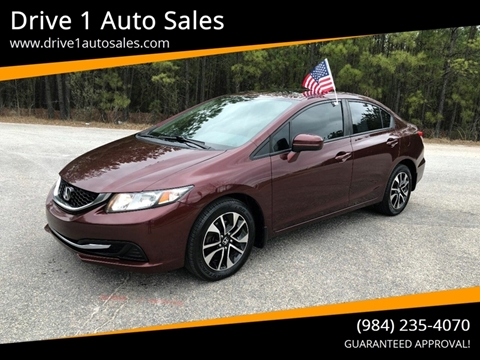 2014 Honda Civic for sale at Drive 1 Auto Sales in Wake Forest NC