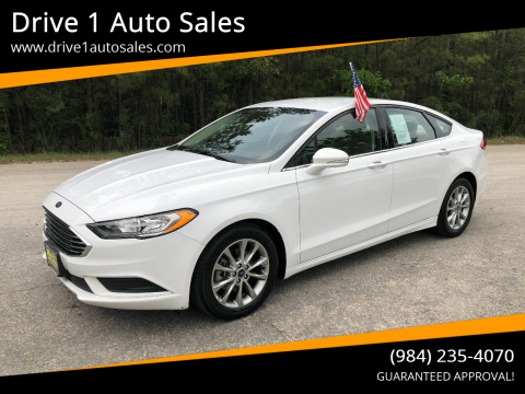 2017 Ford Fusion for sale at Drive 1 Auto Sales in Wake Forest NC