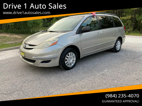 2006 Toyota Sienna for sale at Drive 1 Auto Sales in Wake Forest NC