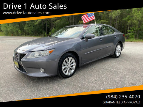 2013 Lexus ES 300h for sale at Drive 1 Auto Sales in Wake Forest NC
