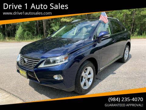 2013 Lexus RX 350 for sale at Drive 1 Auto Sales in Wake Forest NC