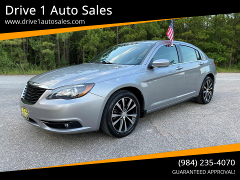 2013 Chrysler 200 for sale at Drive 1 Auto Sales in Wake Forest NC