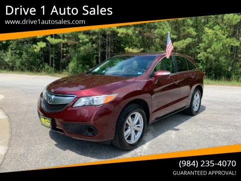 2015 Acura RDX for sale at Drive 1 Auto Sales in Wake Forest NC