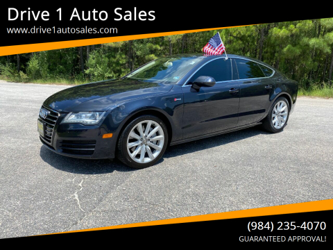 2013 Audi A7 for sale at Drive 1 Auto Sales in Wake Forest NC