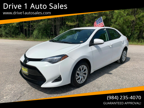 2019 Toyota Corolla for sale at Drive 1 Auto Sales in Wake Forest NC