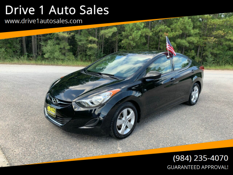 2013 Hyundai Elantra for sale at Drive 1 Auto Sales in Wake Forest NC