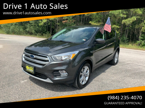 2017 Ford Escape for sale at Drive 1 Auto Sales in Wake Forest NC