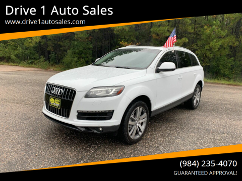 2013 Audi Q7 for sale at Drive 1 Auto Sales in Wake Forest NC