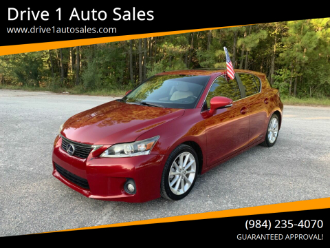 2012 Lexus CT 200h for sale at Drive 1 Auto Sales in Wake Forest NC