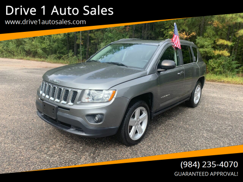 2013 Jeep Compass for sale at Drive 1 Auto Sales in Wake Forest NC