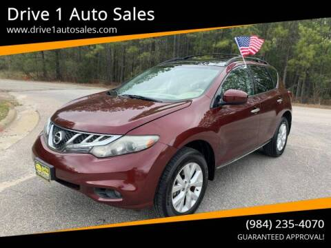 2011 Nissan Murano for sale at Drive 1 Auto Sales in Wake Forest NC
