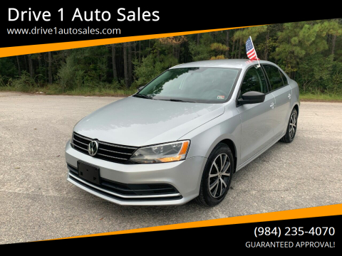 2016 Volkswagen Jetta for sale at Drive 1 Auto Sales in Wake Forest NC