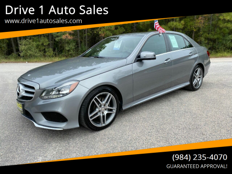 2015 Mercedes-Benz E-Class for sale at Drive 1 Auto Sales in Wake Forest NC