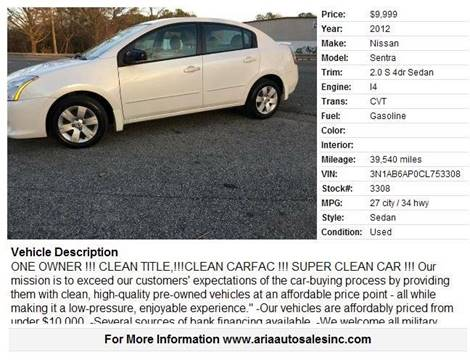 2012 Nissan Sentra for sale in Wake Forest, NC