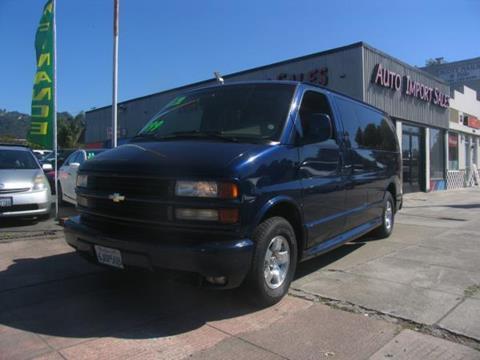 2001 Chevrolet Express Passenger for sale in El Cerrito, CA
