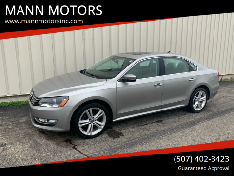 2013 Volkswagen Passat for sale at MANN MOTORS in Albert Lea MN