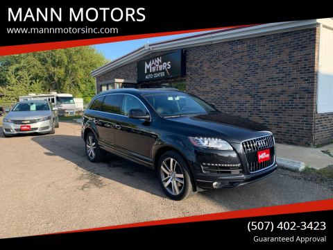 2015 Audi Q7 for sale at MANN MOTORS in Albert Lea MN