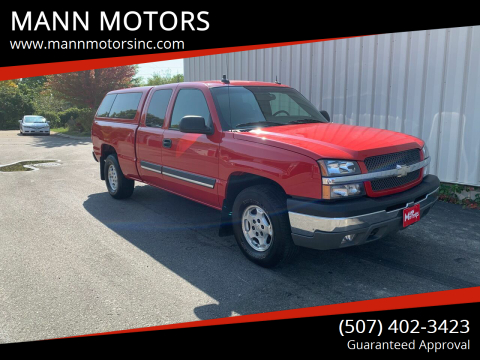 2003 Chevrolet Silverado 1500 for sale at MANN MOTORS in Albert Lea MN
