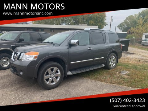 2012 Nissan Armada for sale at MANN MOTORS in Albert Lea MN