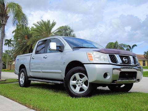 2004 Nissan Titan for sale at M.D.V. INTERNATIONAL AUTO CORP in Fort Lauderdale FL