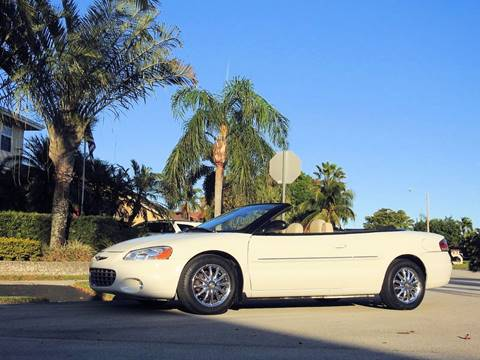 2003 Chrysler Sebring for sale at M.D.V. INTERNATIONAL AUTO CORP in Fort Lauderdale FL