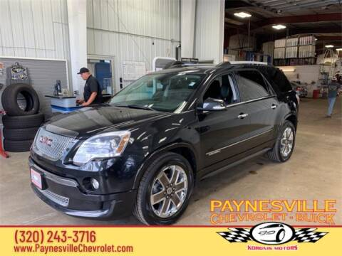 2012 GMC Acadia for sale at Paynesville Chevrolet - Buick in Paynesville MN