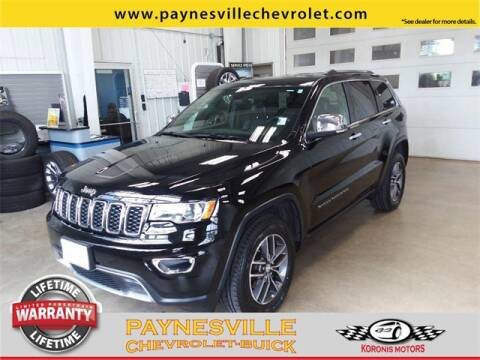 2017 Jeep Grand Cherokee for sale at Paynesville Chevrolet - Buick in Paynesville MN