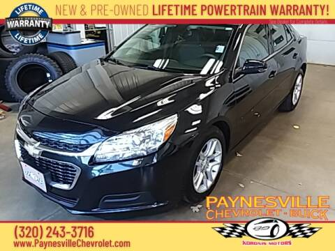 2015 Chevrolet Malibu for sale at Paynesville Chevrolet - Buick in Paynesville MN