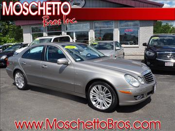 2007 Mercedes-Benz E-Class for sale at Moschetto Bros. Inc in Methuen MA