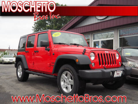 2016 Jeep Wrangler Unlimited for sale at Moschetto Bros. Inc in Methuen MA