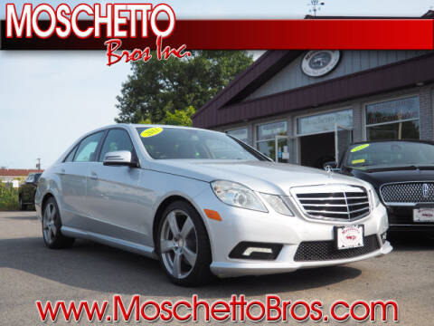 2011 Mercedes-Benz E-Class for sale at Moschetto Bros. Inc in Methuen MA