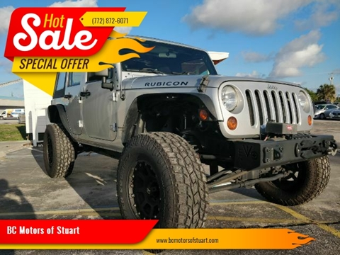 2008 Jeep Wrangler Unlimited for sale at BC Motors of Stuart in Stuart FL