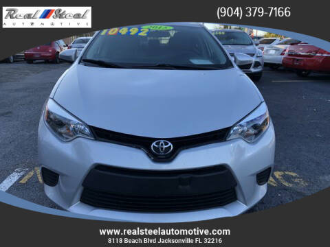 2015 Toyota Corolla for sale at Real Steel Automotive in Jacksonville FL