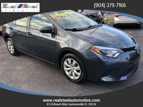 2016 Toyota Corolla for sale at Real Steel Automotive in Jacksonville FL