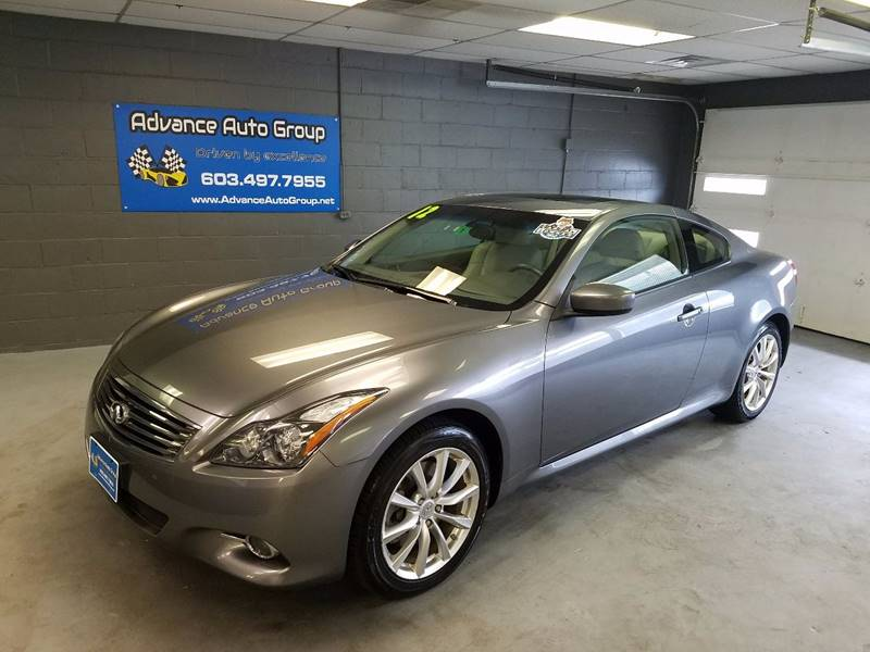 2012 Infiniti G37 Coupe for sale at Advance Auto Group, LLC in Manchester NH