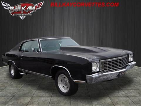 1972 Chevrolet Monte Carlo for sale at Bill Kay Corvette's and Classic's in Downers Grove IL