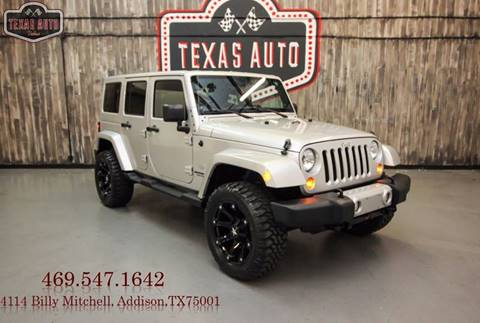 2011 Jeep Wrangler Unlimited for sale in Addison, TX