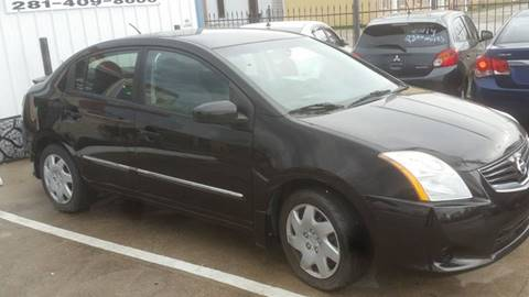2012 Nissan Sentra 2.0 S for sale at PEOPLE'S AUTO SALES in Houston TX