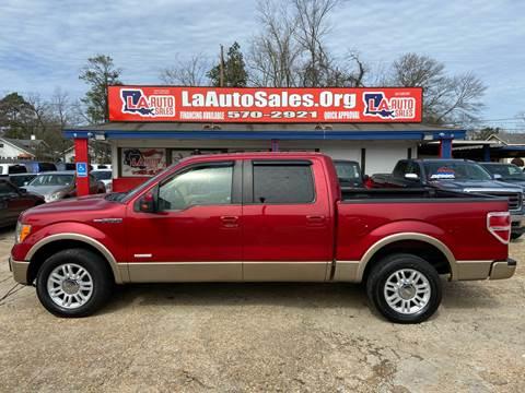 2011 Ford F-150 Lariat for sale at LA Auto Sales in Monroe LA