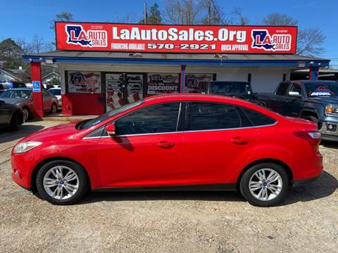 2012 Ford Focus SEL for sale at LA Auto Sales in Monroe LA
