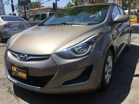 2016 Hyundai Elantra for sale at MK Auto Wholesale in San Jose CA